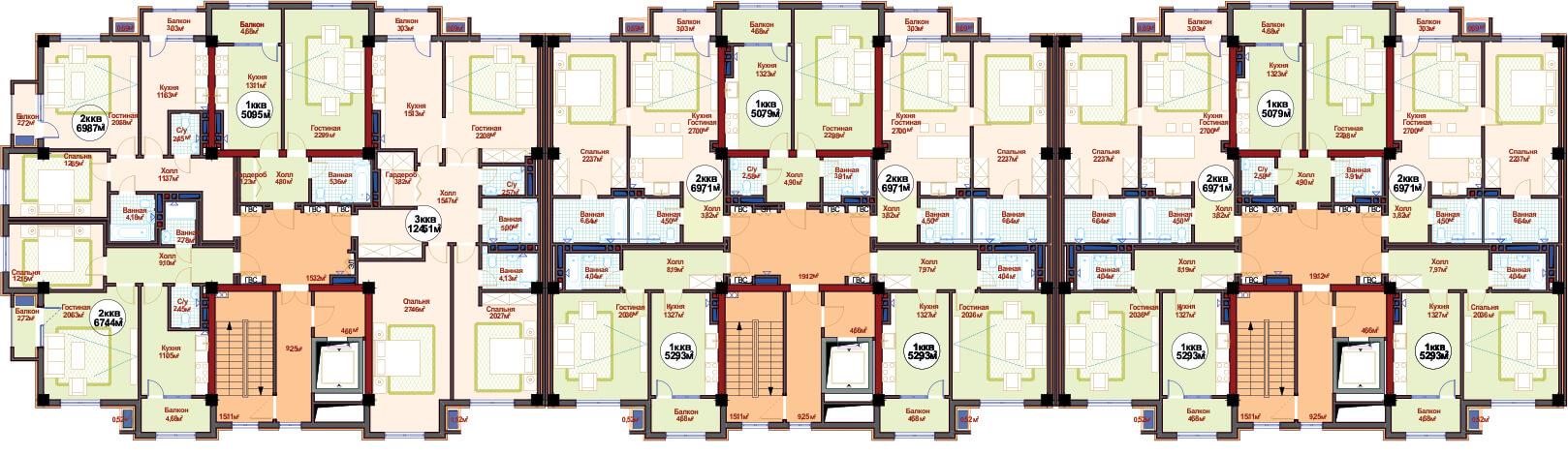 Общая планировка 7 этажа