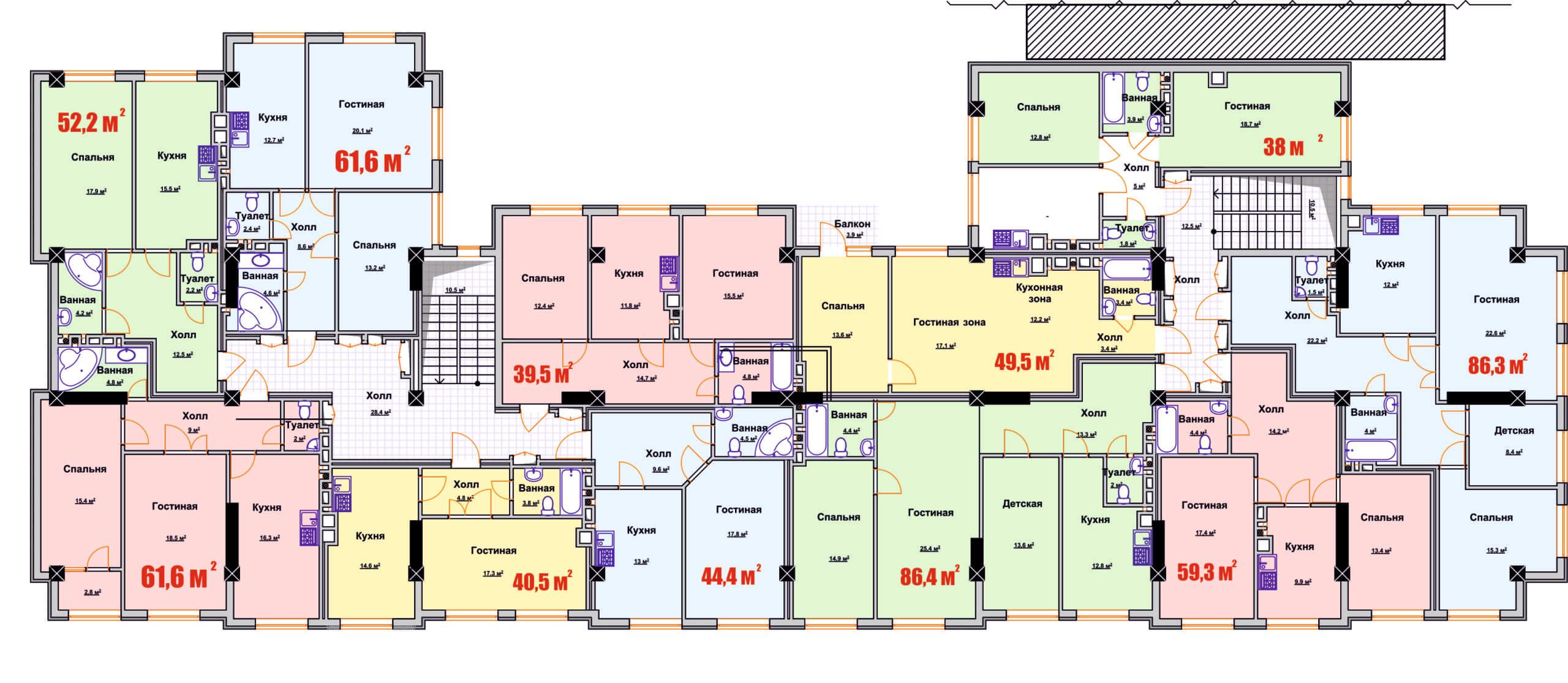 Общая планировка 1-го этажа